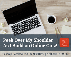 Peak Over My Shoulder As I Build an Online Quiz